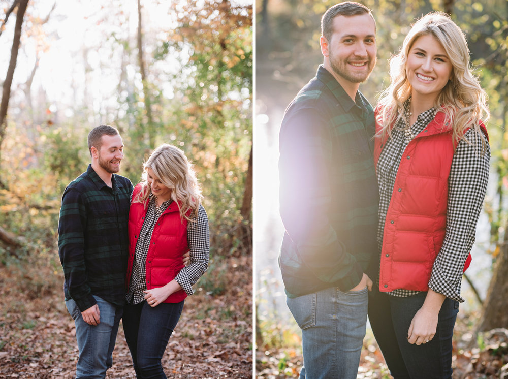 fall engagement session columbia sc
