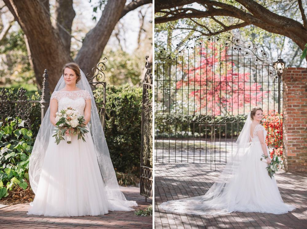 bridal portraits iron gates