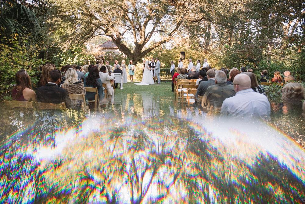 prism wedding photo