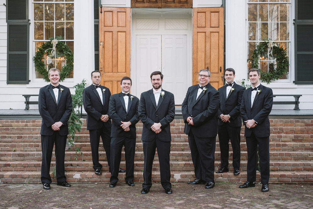 groom and groomemen winter wedding
