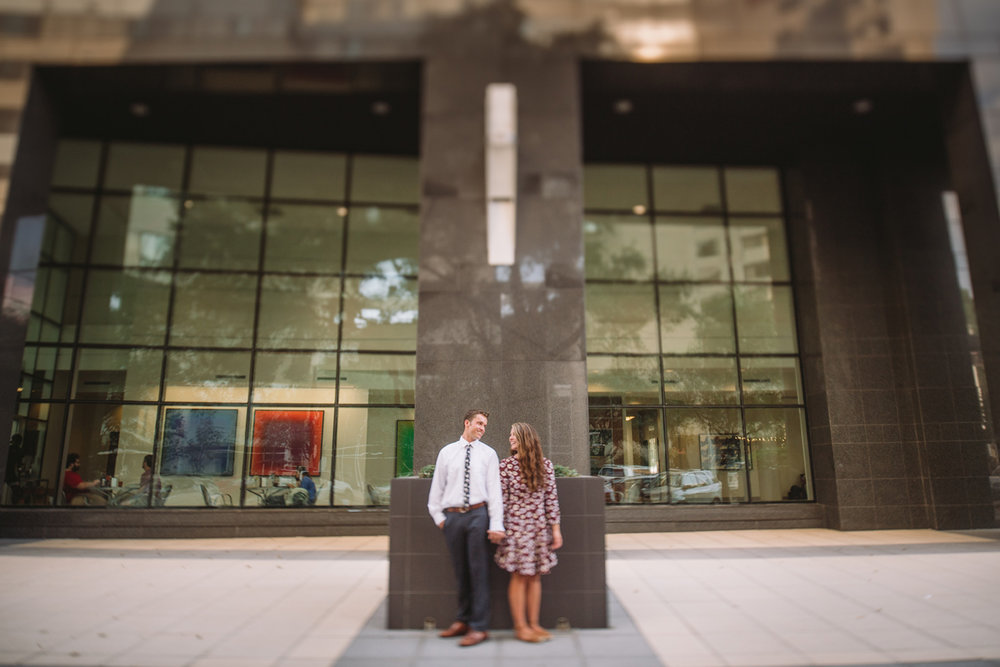city style engagement photos