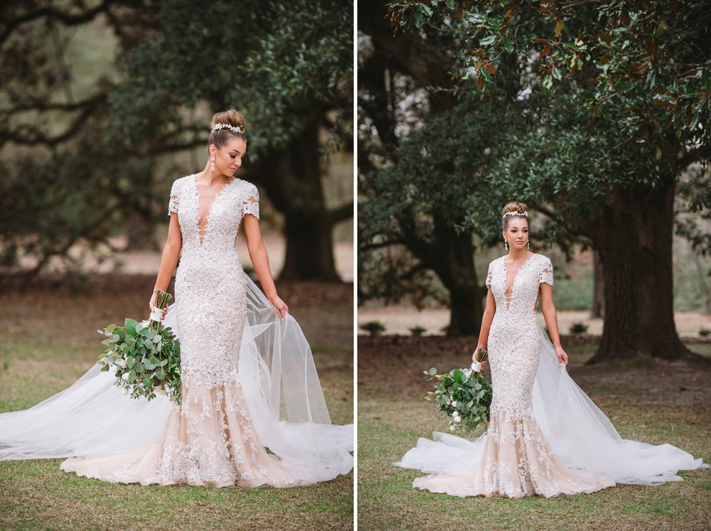 plantation bridal portraits