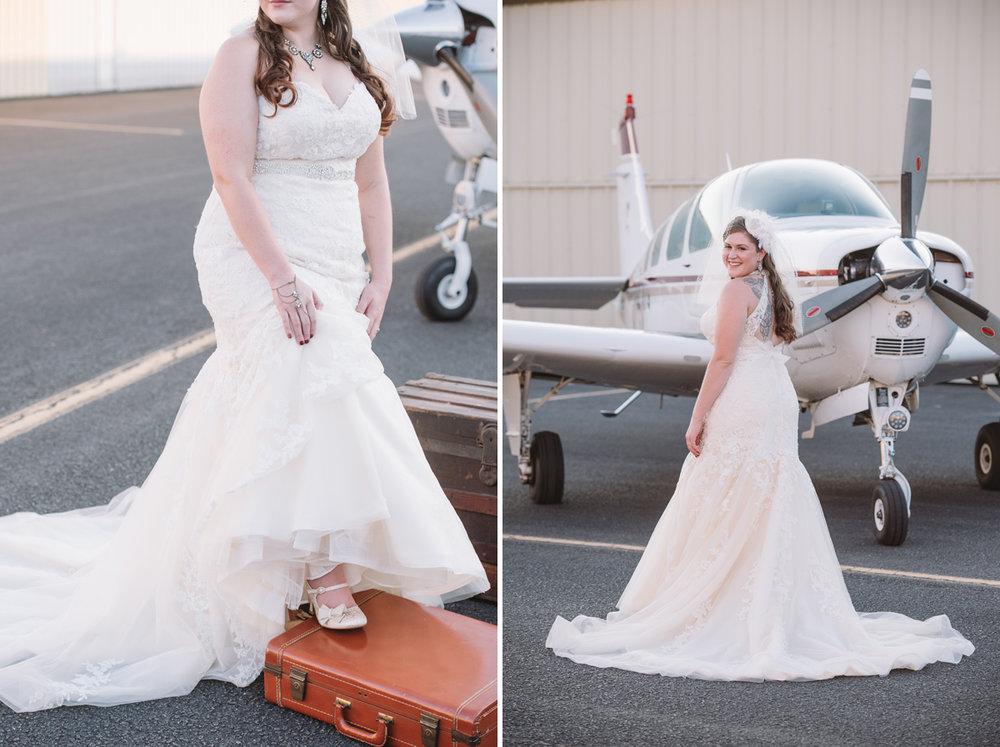 vintage inspired bridal portiat