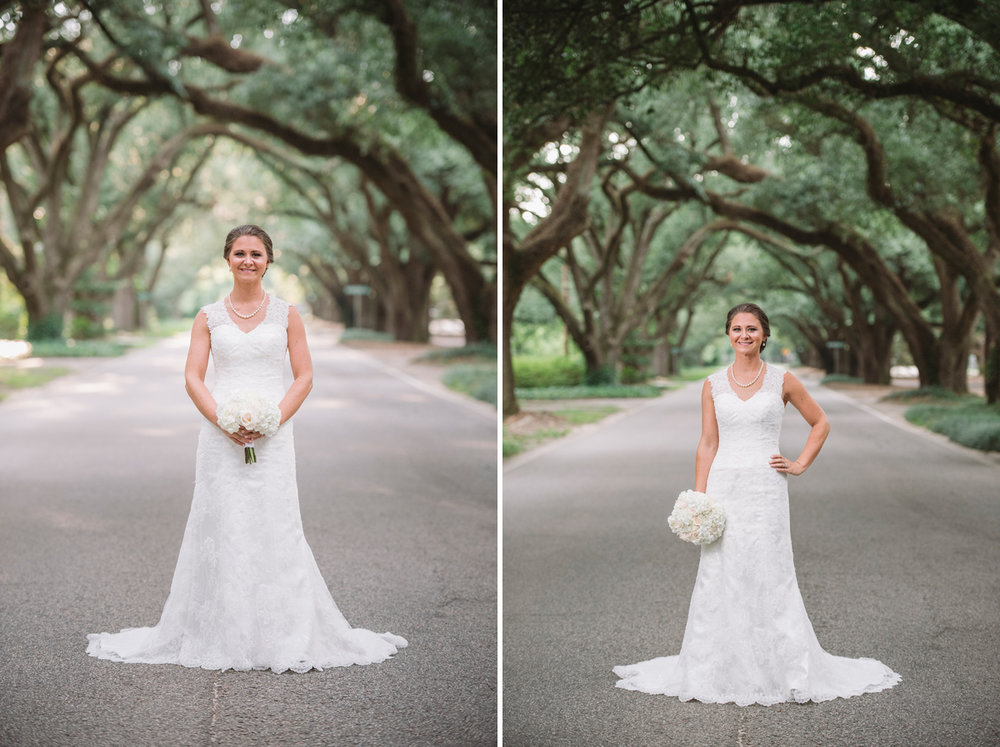 aiken bridal photographer avenue of oaks