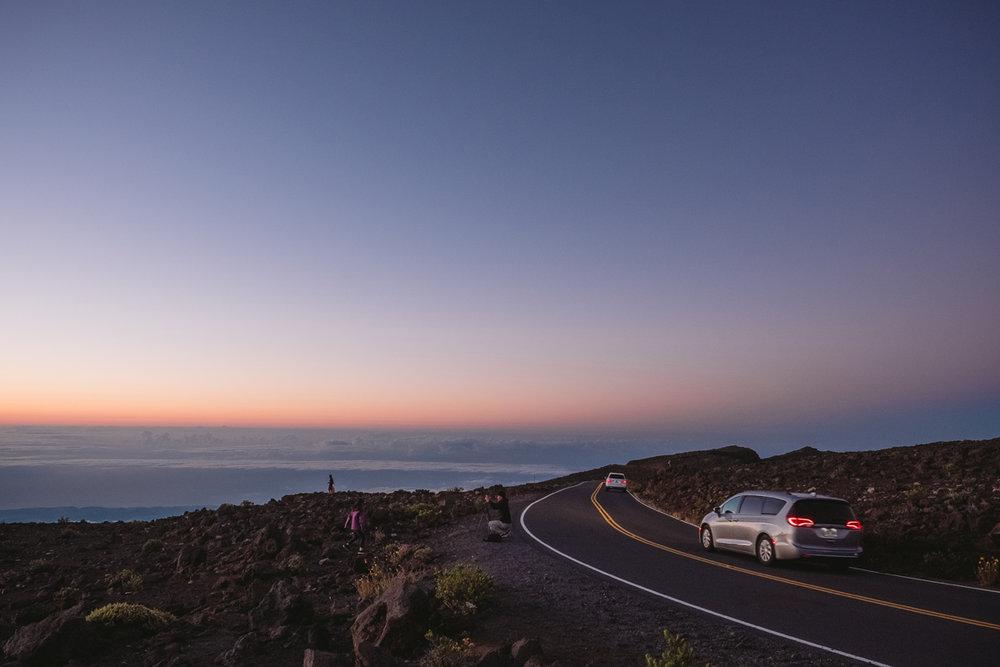 drive down from mount haleakala