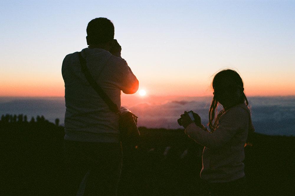sunset mountain hawaii maui