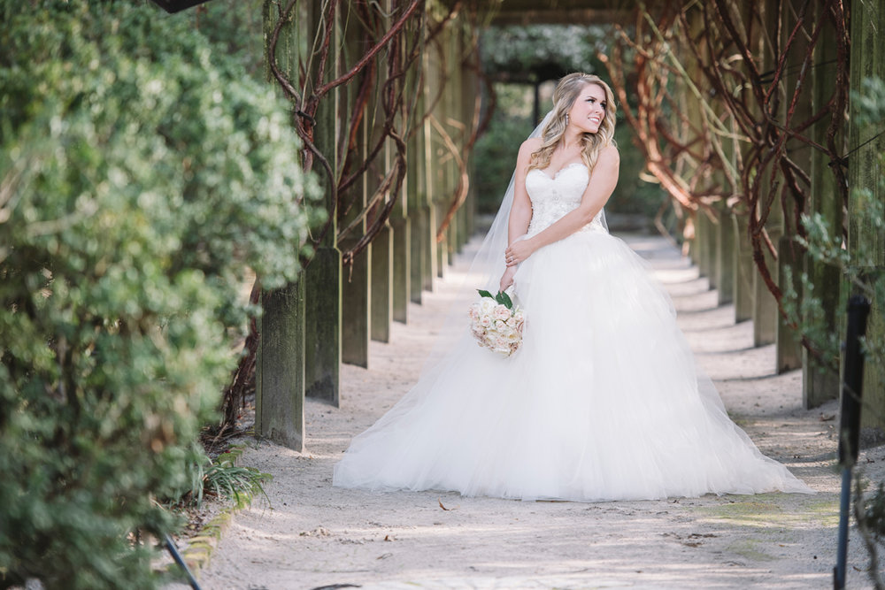 outdoor bridal portraits