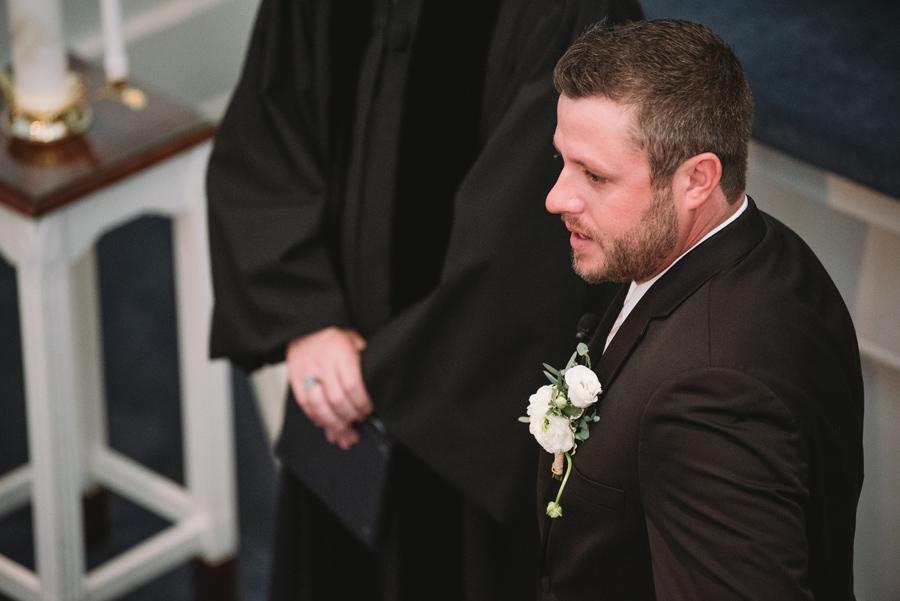 grooms ceremony reaction