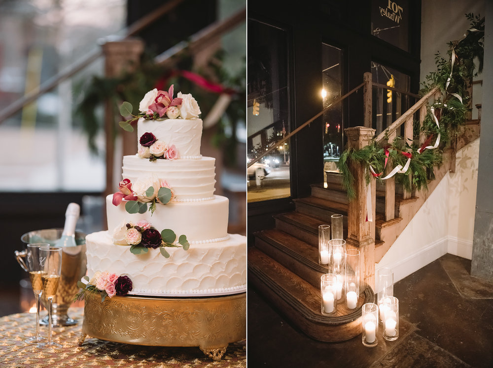 Candle-lit Cake and Stairs / 701 Whaley / Columbia SC