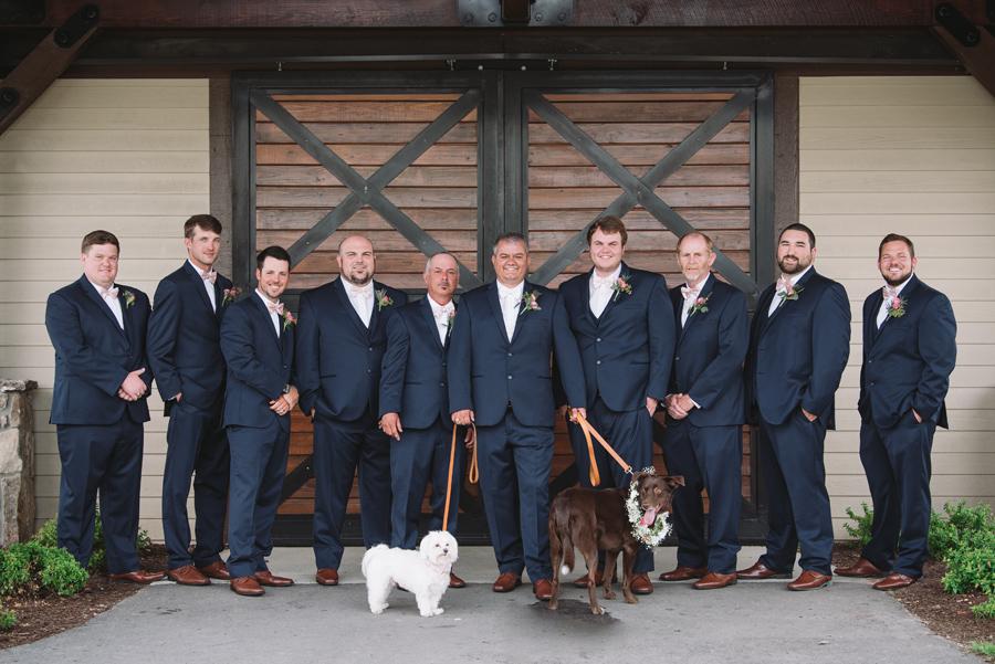 groomsmen farm at ridgeway