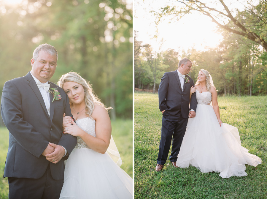 light and airy wedding portraits