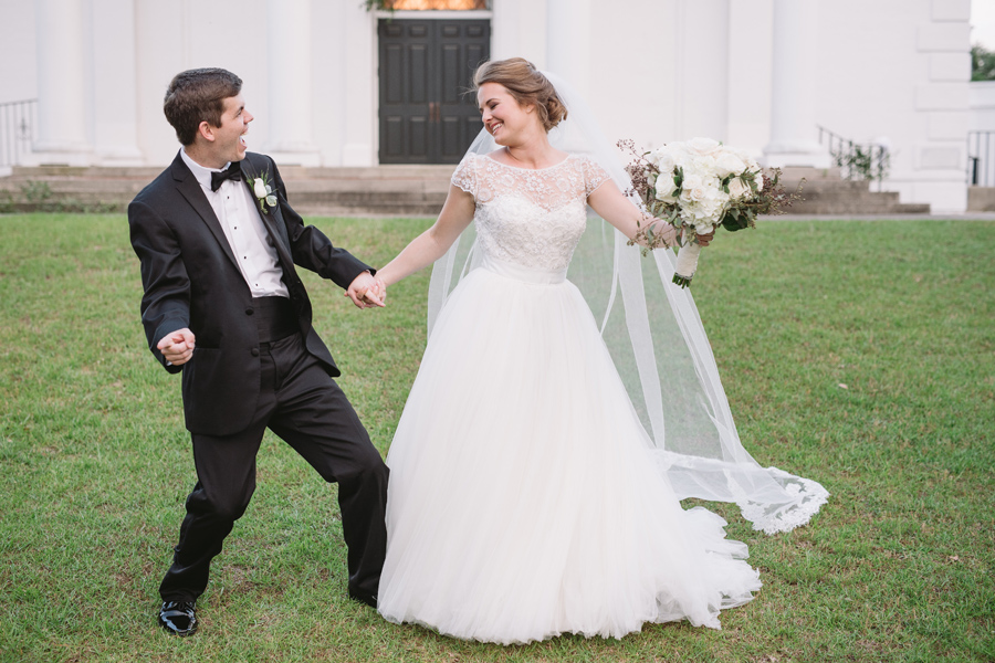 funny wedding portraits