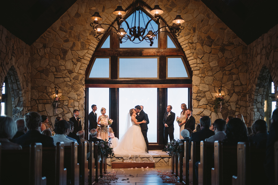 glassy chapel wedding