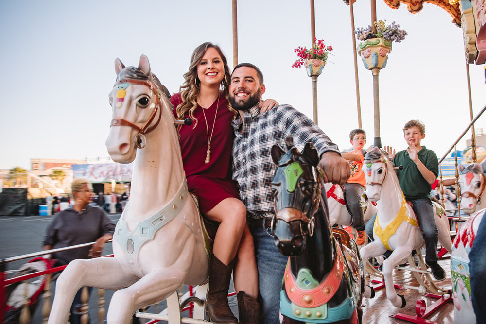 carousel engagement photos