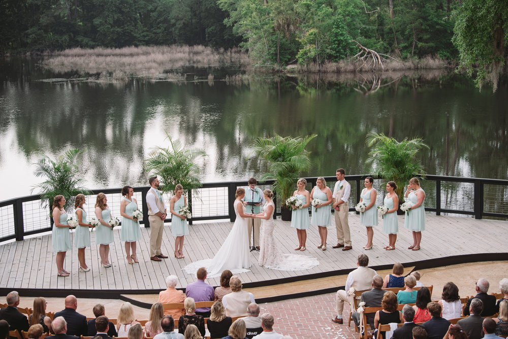wedding at adams pond