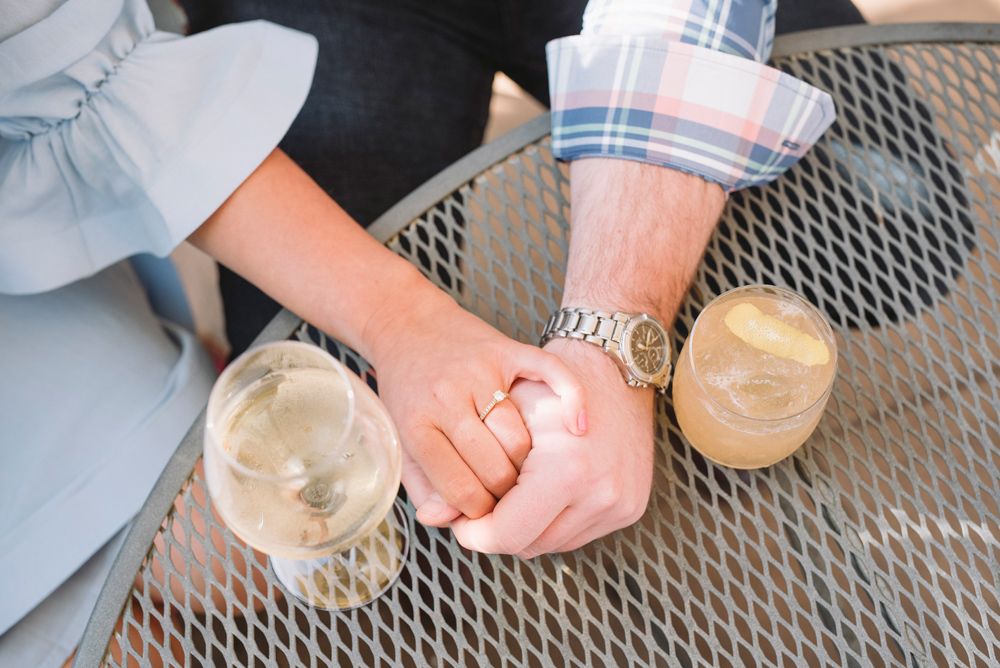 happy hour engagement session