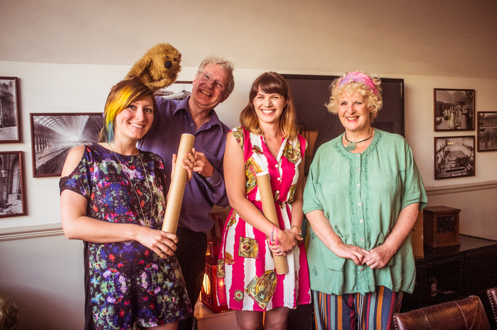 Myself, Ronnie Le Drew (with Beaver), Lori Hopkins and Caroline Astell-Burt on graduation night. Photo by  tedadair.com
