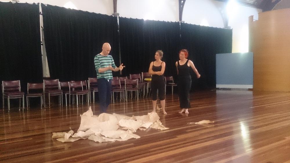 Simon with Jenny Ellis and Victoria Osborne.