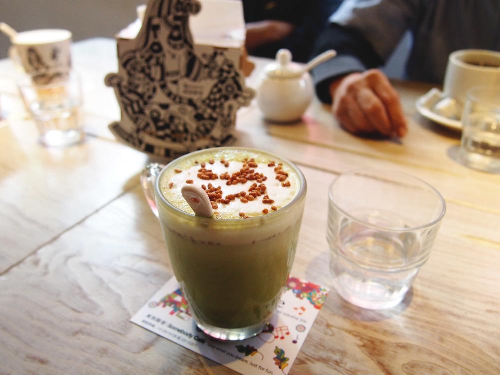 Matcha barley latte