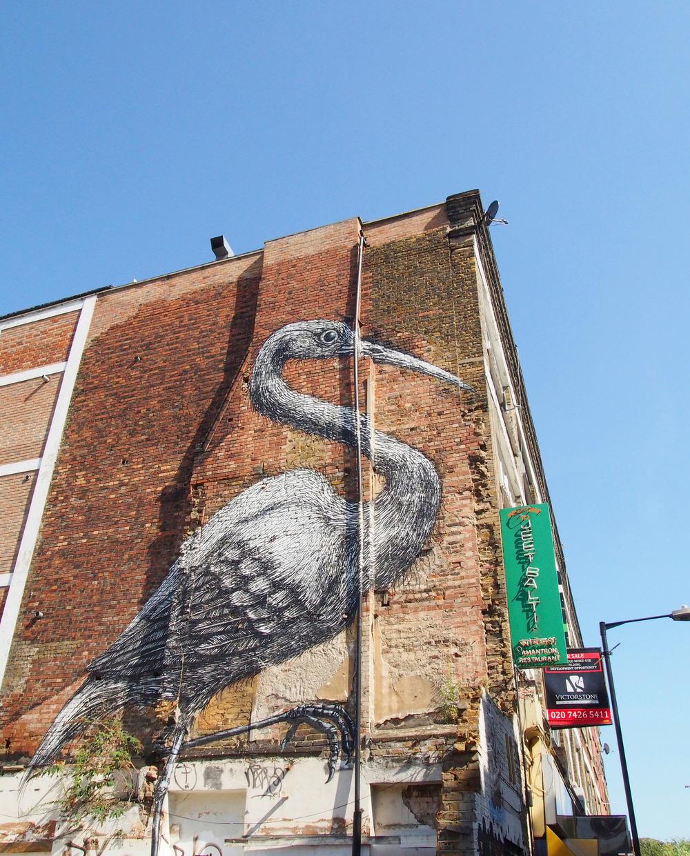 Bricklane, London  Work by Roa