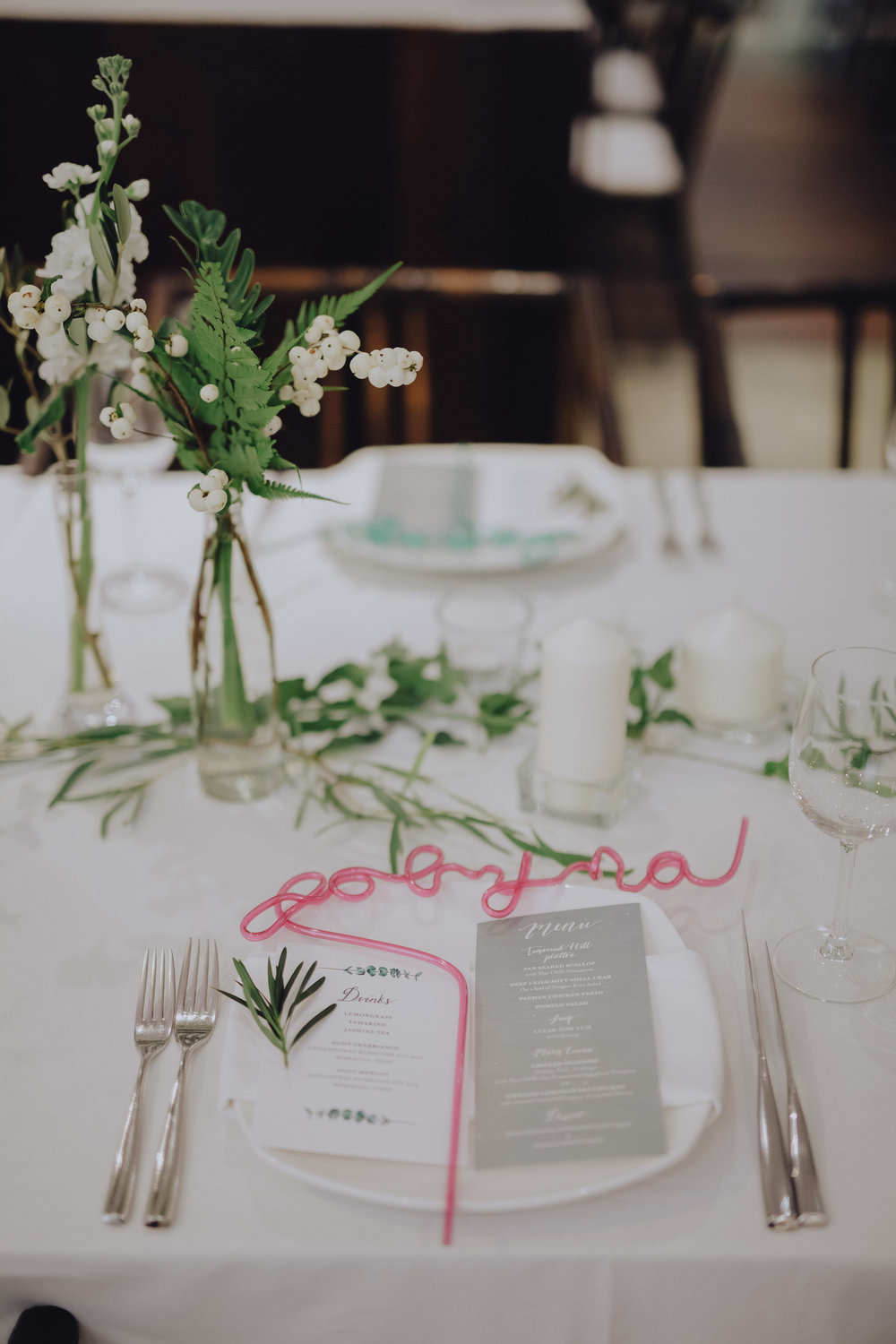 Photo by Tiny Dot Photography featuring food & beverage menu by Wood&Lead