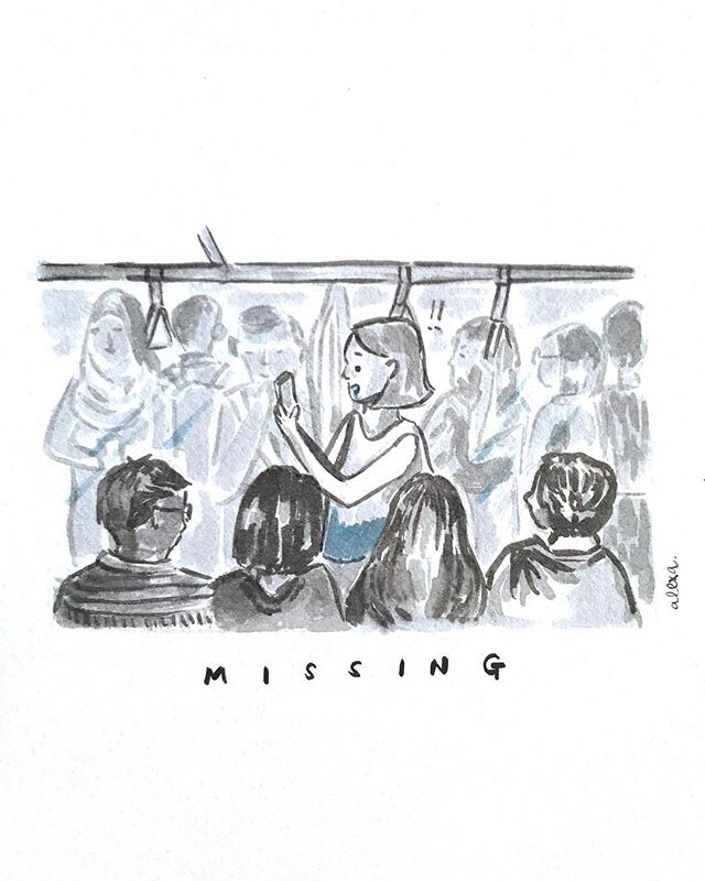 #inktober2018 13: Missing • Last seen on the North East line. Just another day on board the wrong train without knowing and leaving my friends to wonder where the hell am I. #missing #obviously #inktoberprompts