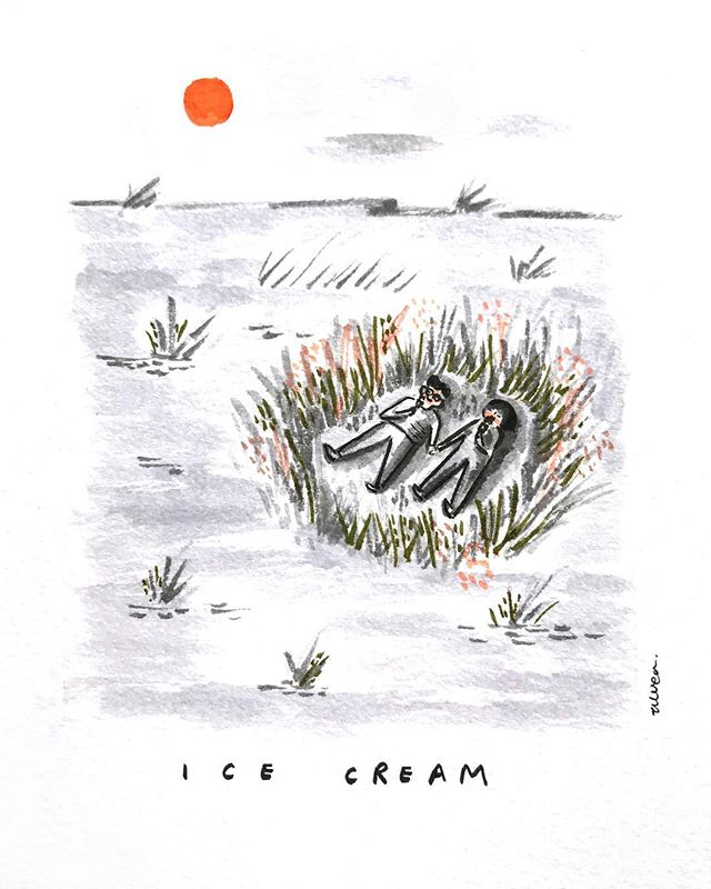 #flpinktober 07: Ice Cream • Frosty goodness in one hand and your favourite person in another.🍦🍃 #inktober2018 #inktober2018day7