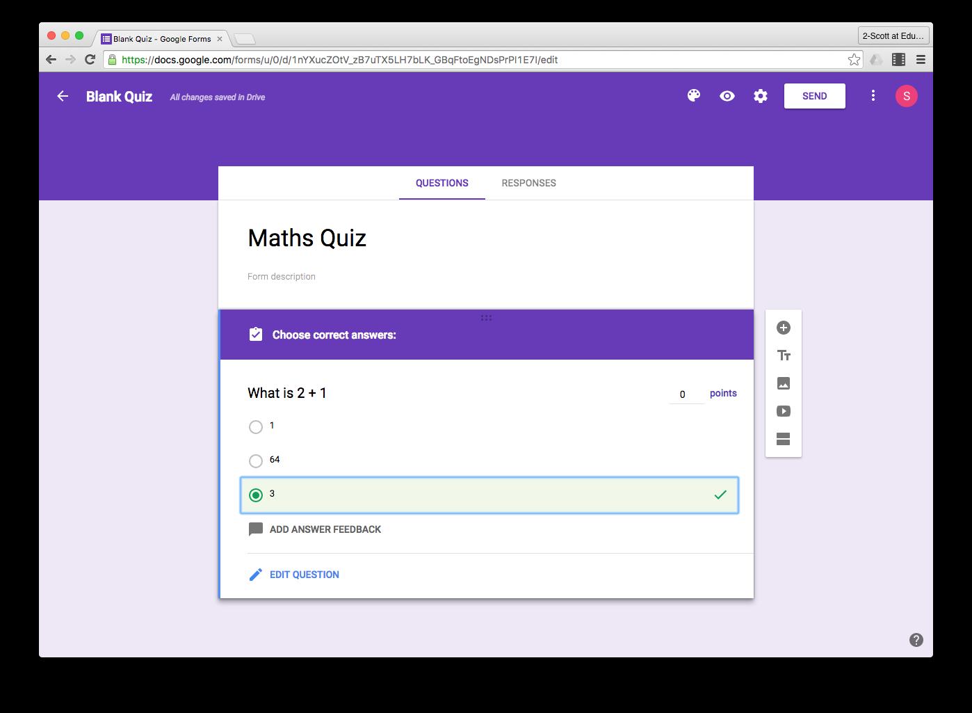 Google Forms Quizzes