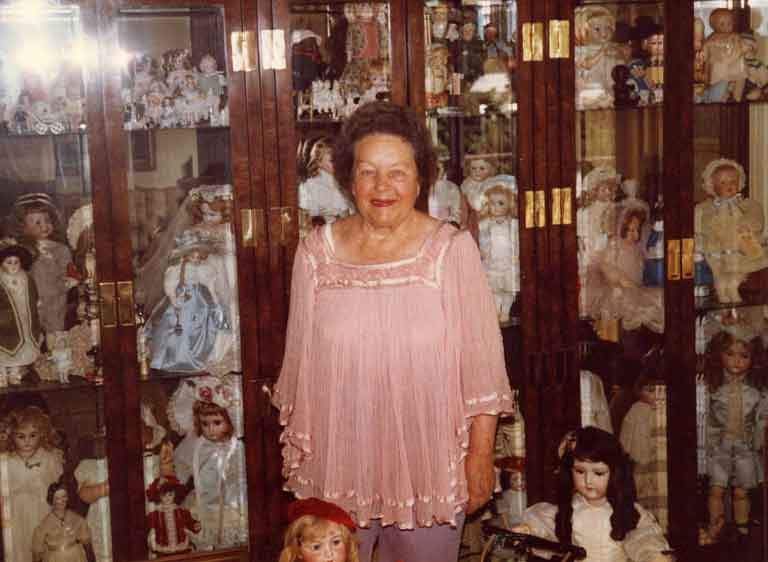 Helen and her doll collection