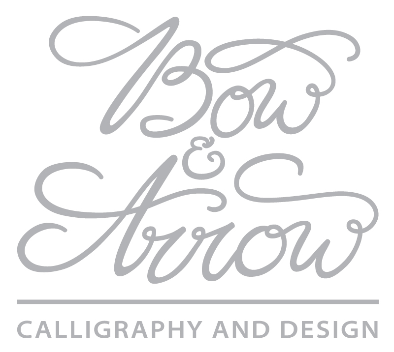 Bow and Arrow Calligraphy
