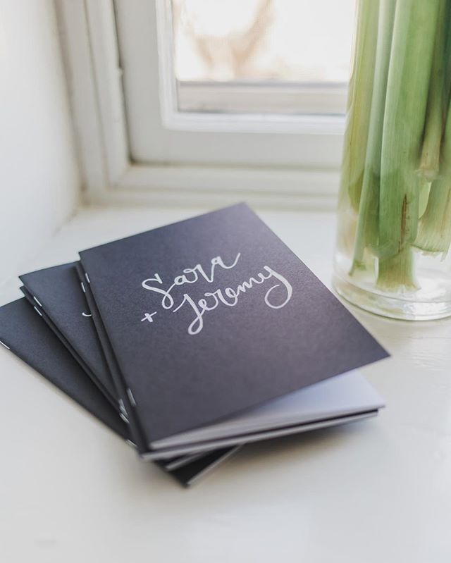 A personalized notebook for the couples that attended @beyondthevowsmovement. // Thanks to @mallorymcclurephotography + @sparrowandlace #beyondthevowsmovement #calligraphy #moderncalligraphy #handlettering #notebook #journal