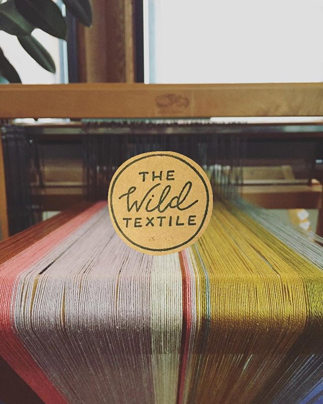 ⭐️ #tbt logo design ⭐️ I created this hand-lettered logo for my cool sister's amazing business, The Wild Textile. She wanted something simple and imperfect that would be easy to stamp onto tags and packaging. Check out her IG (@thewildtextile) for colorful textiles you can buy, plus cat pictures. +++ And she makes her own natural dyes! 🌈 So inspiring! 🌈 . . . #logodesign #handlettering #weaving #weavingloom #naturaldye