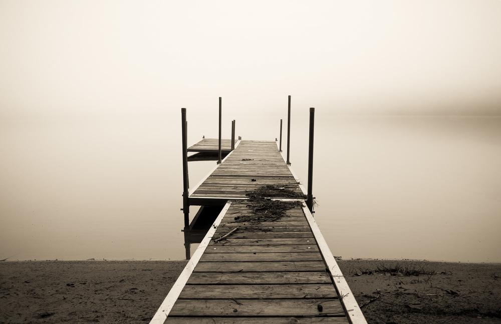 Dock   Brettun's Pond, Livermore, Maine