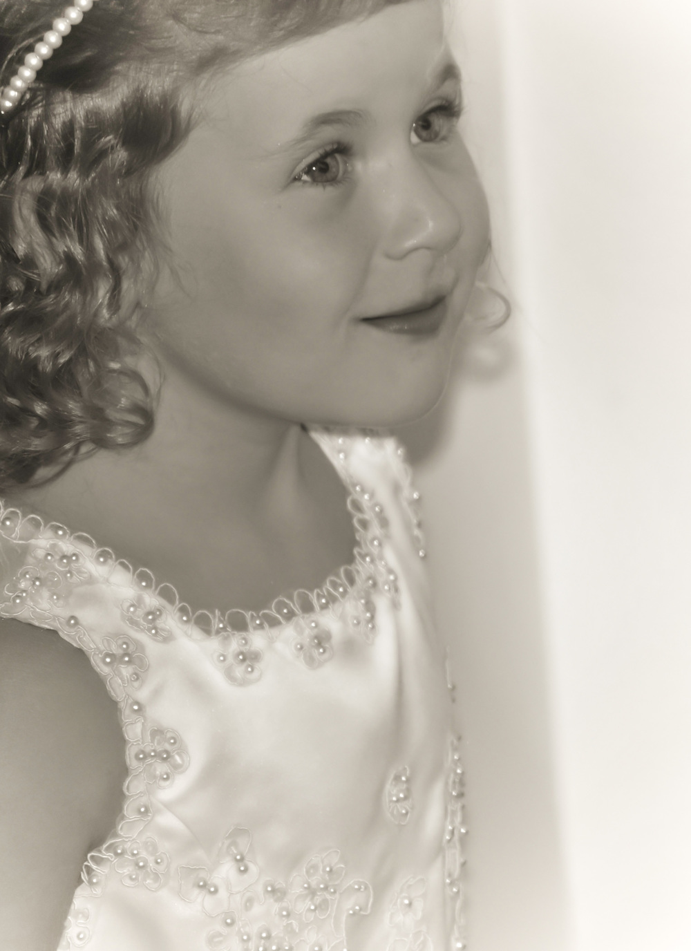 Emily Flower girl, Terry wedding, 2012