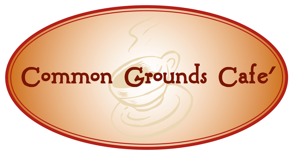 """Common Grounds"" logo Cazenovia, N.Y."