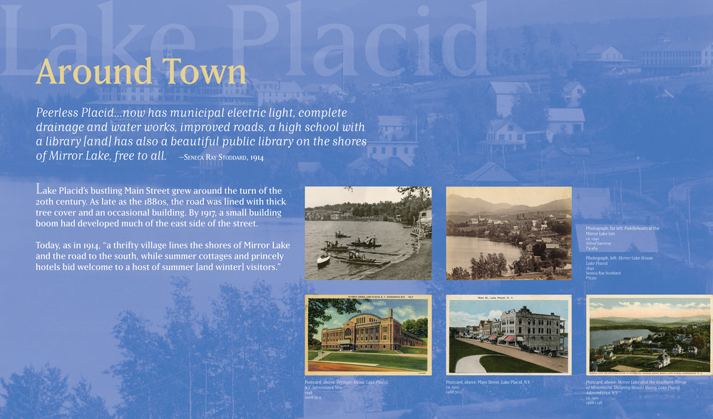 Outdoor signage for the Town of Lake Placid Lake Placid, N.Y.