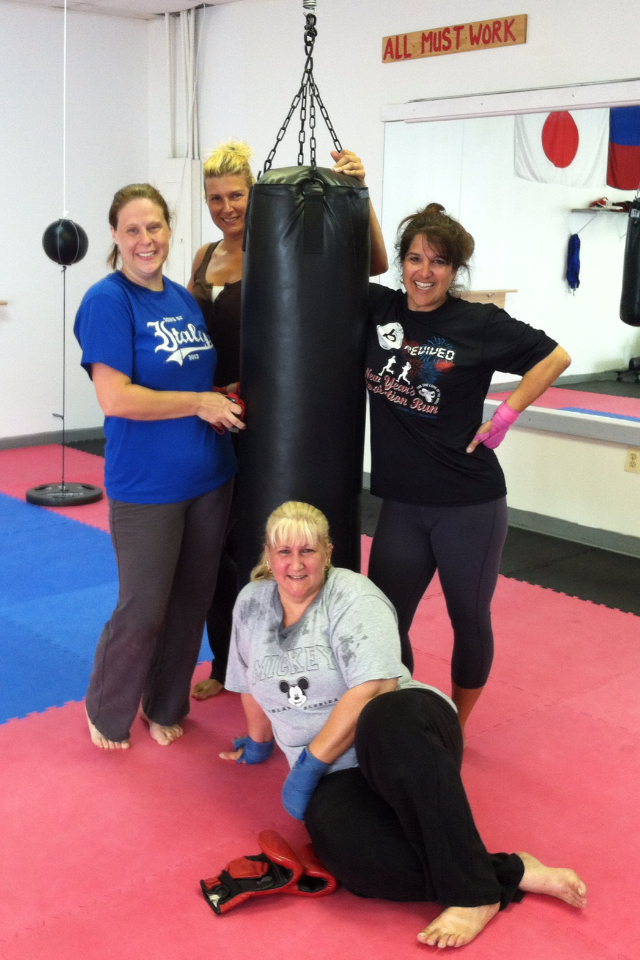 July 2013 - 1st graduating class of Kickboxing 101!