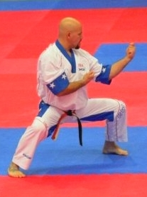 Sensei Del Ross competing in Italy, 2009.