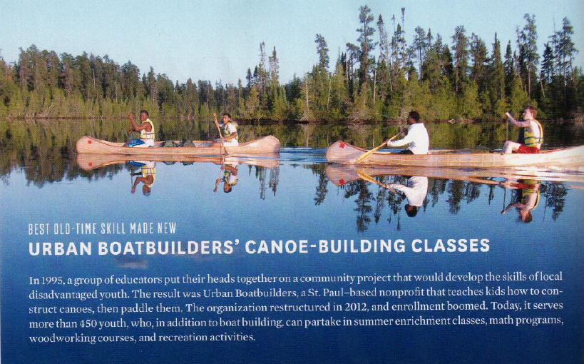 Photo by Urban Boatbuilders, text by Mpls St. Paul Magazine