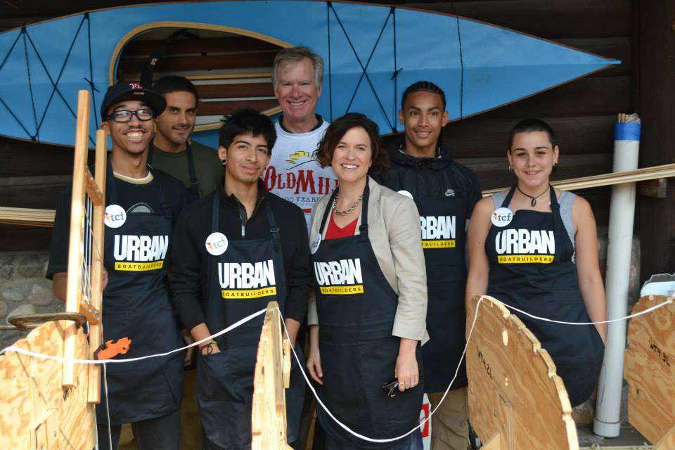 Mayors Chris Coleman (Saint Paul) and Betsy Hodges (Minneapolis) meet Apprentices at the 2015 Minnesota State Fair.