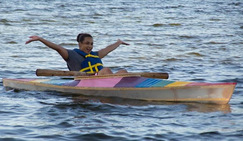 Senior Apprentice Briawnna in the Pride Kayak.