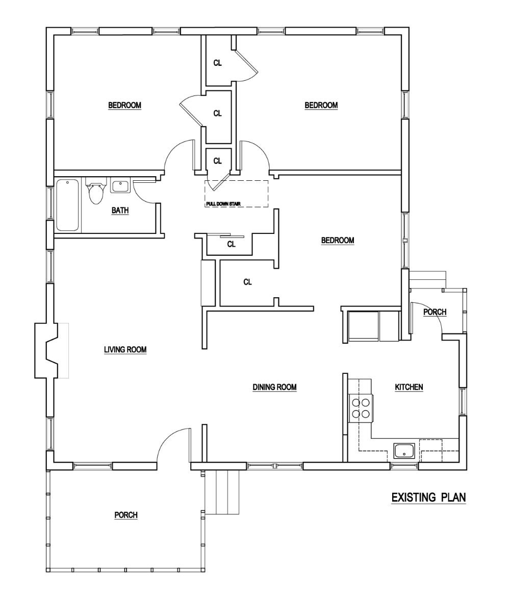 FLOOR PLAN DRAFTED FROM SITE MEASUREMENTS