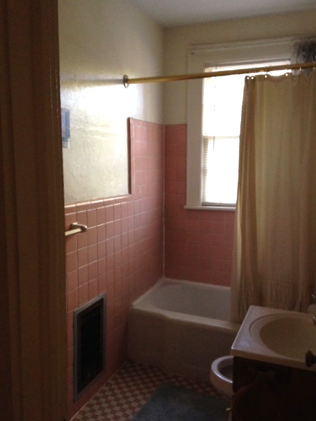 THE EXISTING BATHROOM. EVERYTHING WILL GO!