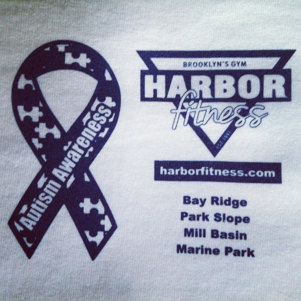 Harbor Fitness: Race Against Autism Charity Shirt (Front)
