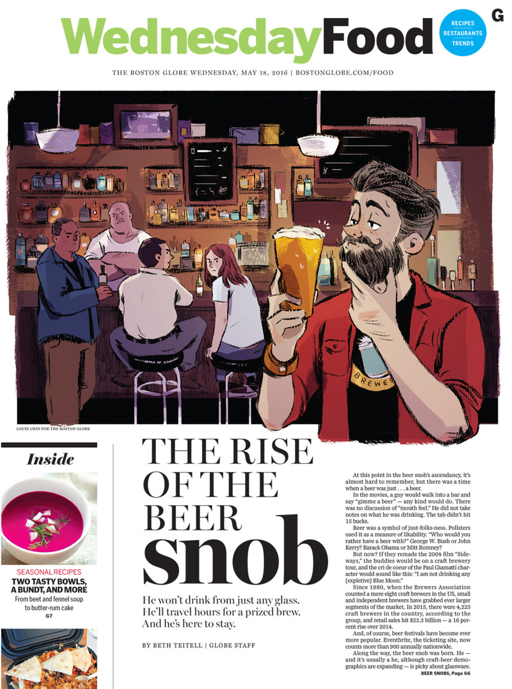 The Rise of the Beer Snob  by Beth Teitell AD: Jane Martin  Read the Article  here
