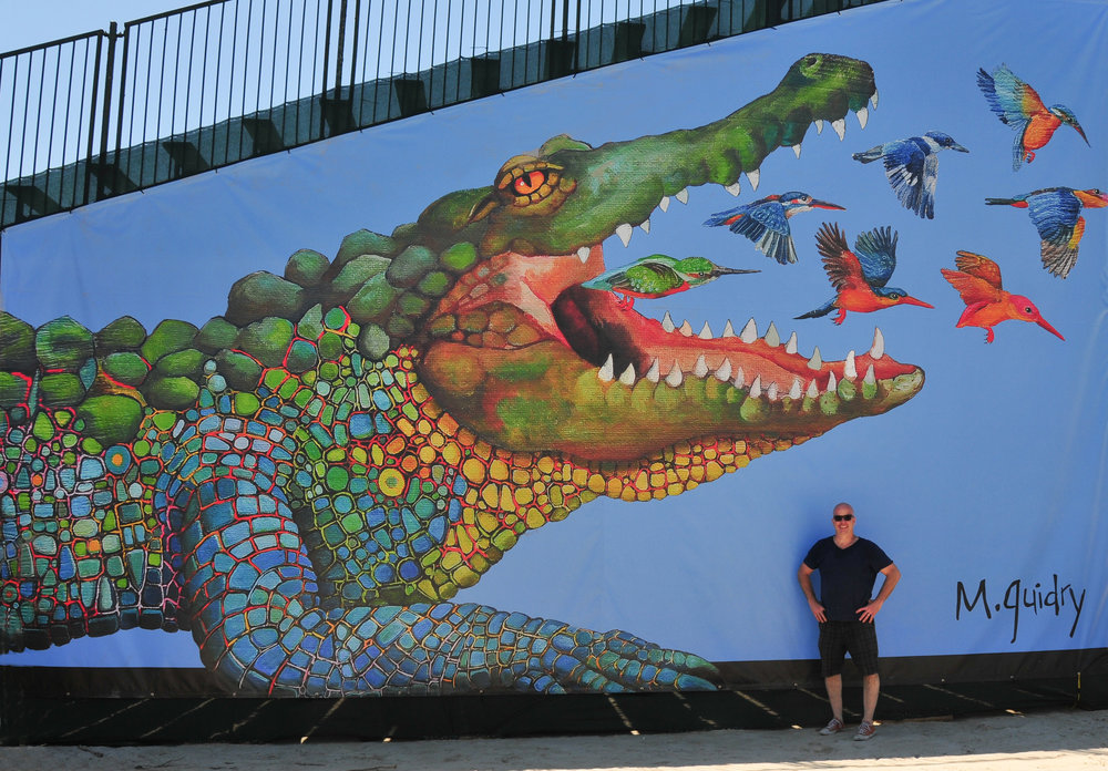 Pink-alligator-m-michael-guidry-jazz-fest-jazzfest-new-orleans-artist-louisiana-gallery-swamp-genesis