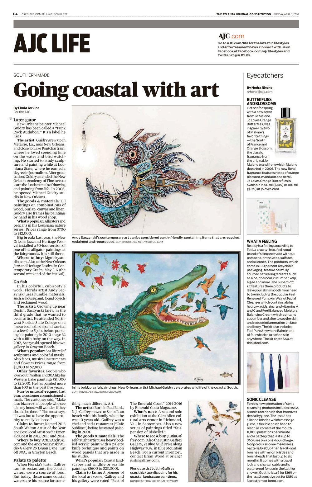 atlanta-journal-constitution-m-michael-guidry-neworleans-louisiana-artist-studio-painter-alligator-interview-article.jpg