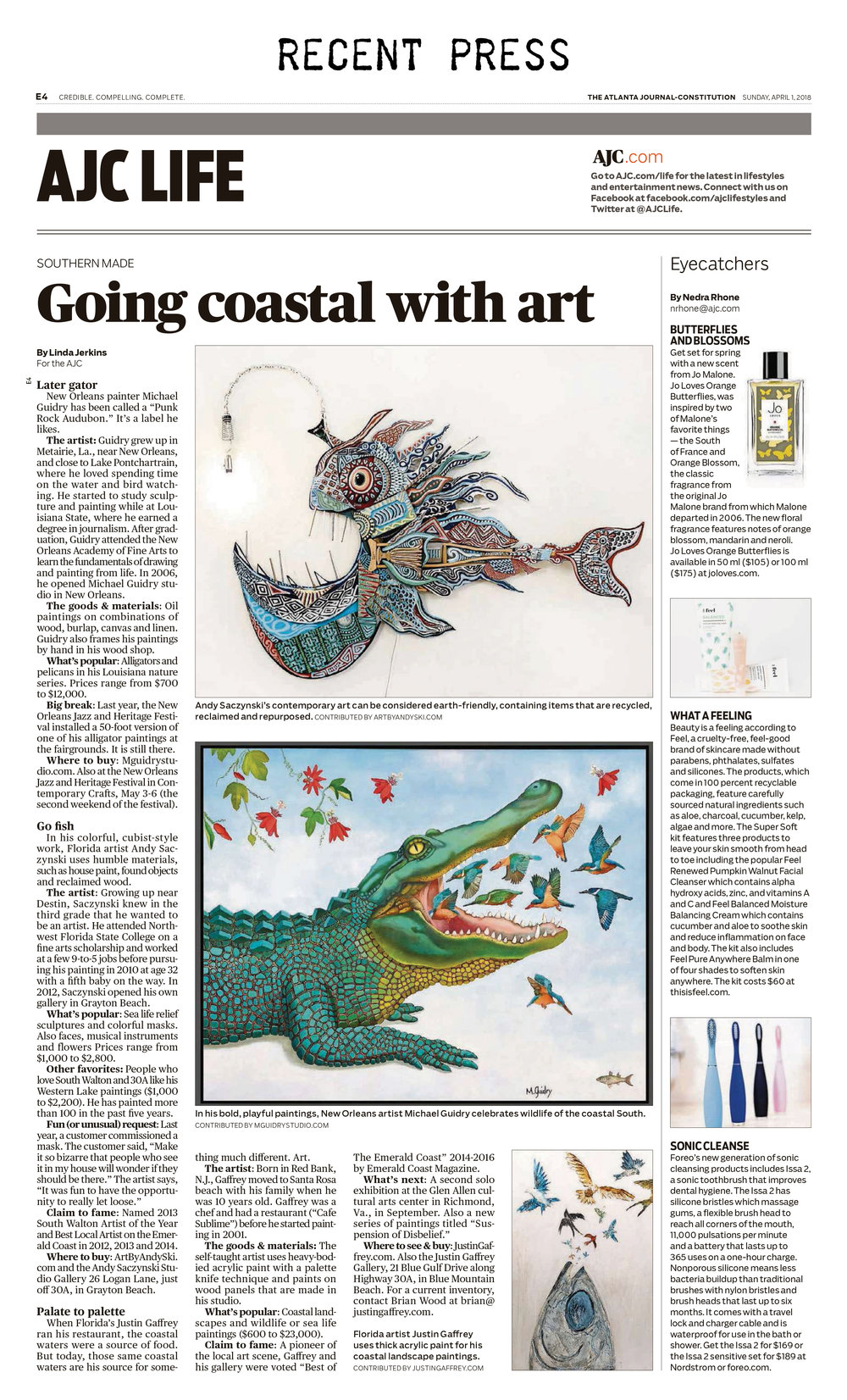 atlanta-journal-constitution-recent-press--m-michael-guidry-neworleans-louisiana-artist-studio-painter-alligator-interview-article.jpg