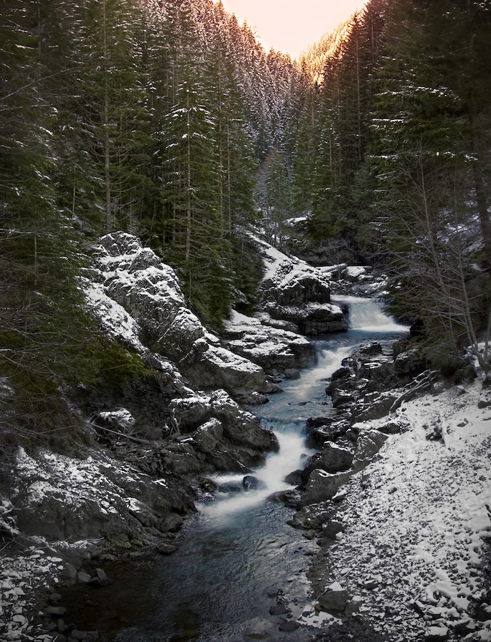 Kinney Creek in Winter, Detroit, Oregon