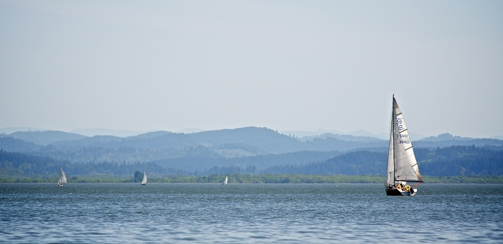 Sailing, Fern Ridge, Eugene, Oregon